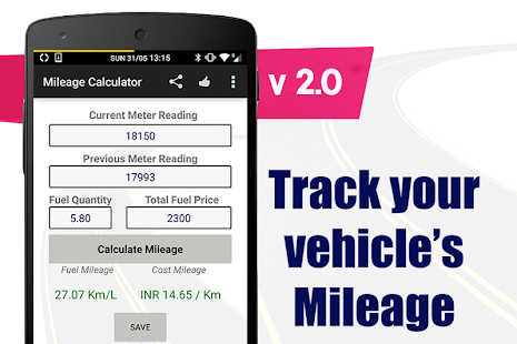 Mileage Calculator Screenshot