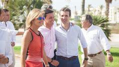 El presidente del PP durante una visita a Almería.
