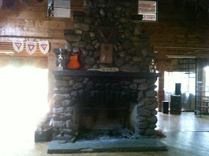 Photo: The fireplace in the Dining Hall. This will be the Hearth of the Cotting House.