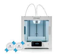 Ultimaker S3 3D Printer - 2 Year Warranty, 2 Spools of PLA
