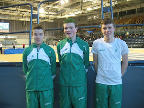 Photo: Aidan Conneely, Daniel Ryan & Jack Murphy, all part of the Junior Boys Irish team