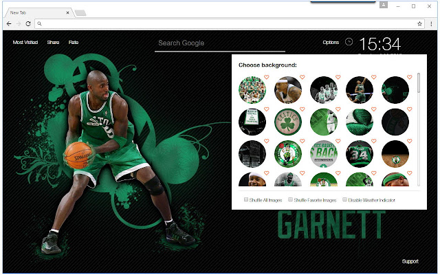 New Tab Themes With HD Wallpapers Of The Boston Celtics