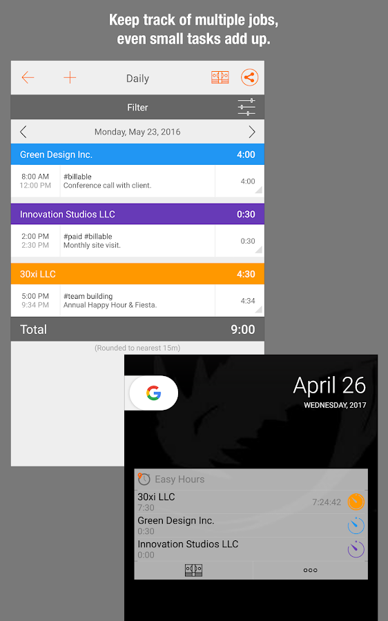 Easy Hours Timesheet Timecard- screenshot
