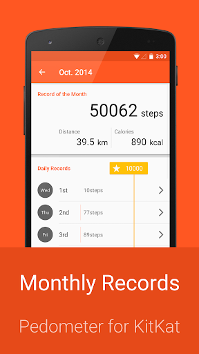 Pedometer for KitKat app (apk) free download for Android/PC/Windows screenshot