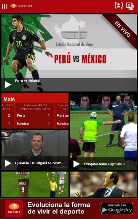 Televisa Deportes- screenshot