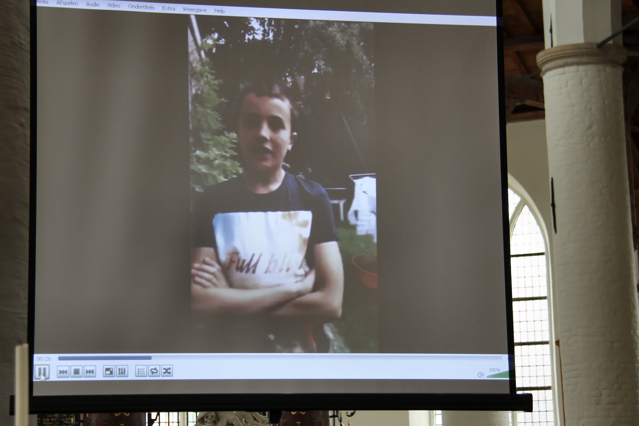 Photo: Elk van de kinderen vertelde iets over zichzelf en de KND in een filmpje