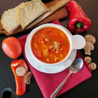 Healthy Stuffed Pepper Soup #RecipeRedux