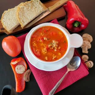 Healthy Stuffed Pepper Soup #RecipeRedux.