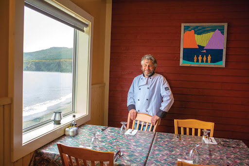 Stan Parsons at Seaside Restaurant in Trout River, western Newfoundland.