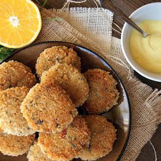 Risotto Cakes w/ Citrus-Saffron Aioli