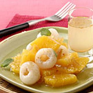 Gemarineerde Sinaasappel En Lychees Met Gember