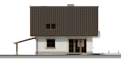 Dom przy Cyprysowej 20 P - Elewacja tylna