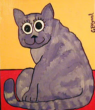 Photo: Purple Cat 12 x 16