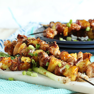 Grilled Teriyaki Glazed Chicken Kabobs