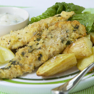 Parmesan-Herb Crusted Hake