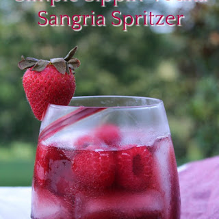 Simple Sippin' Vodka Sangria Spritzer.