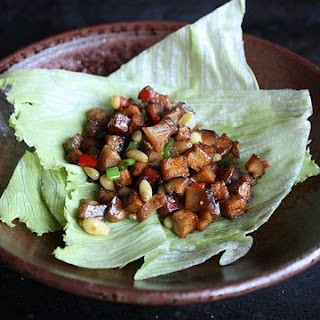 Chicken, Tofu and Shiitake Lettuce Cups
