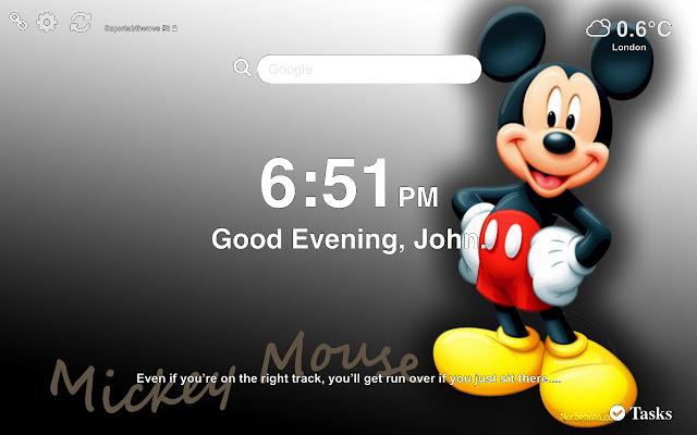 Mickey Mouse Wallpaper Tab Theme