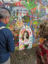 Photo: The John Lennon wall in Prague.