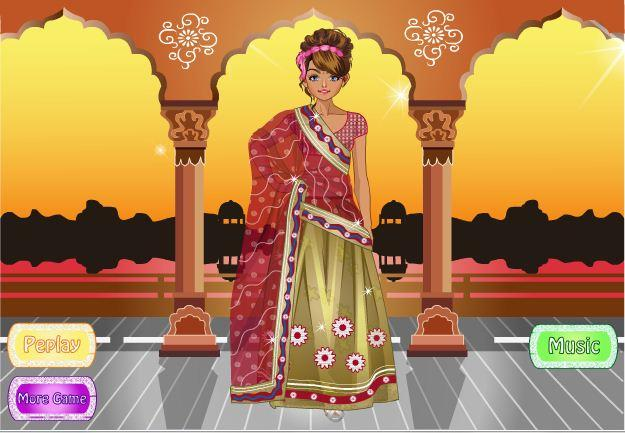 android Indian Bride Dress Up Makeover Screenshot 3