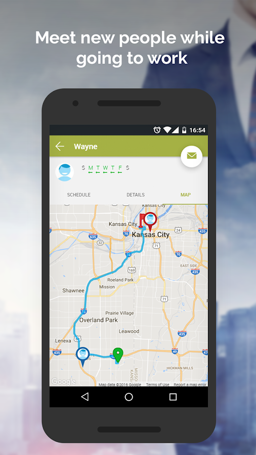 RideshareKC- screenshot