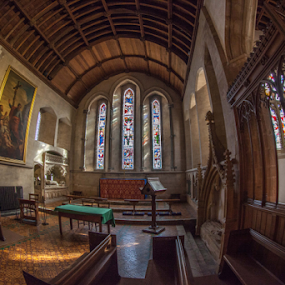 Dunster, Somerset, England by John Walton - Buildings & Architecture Places of Worship ( tranquil, dunster, wood, church, heritagefocus, stain glass )
