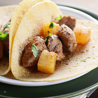 Sweet and Spicy Pork and Pineapple Tacos.