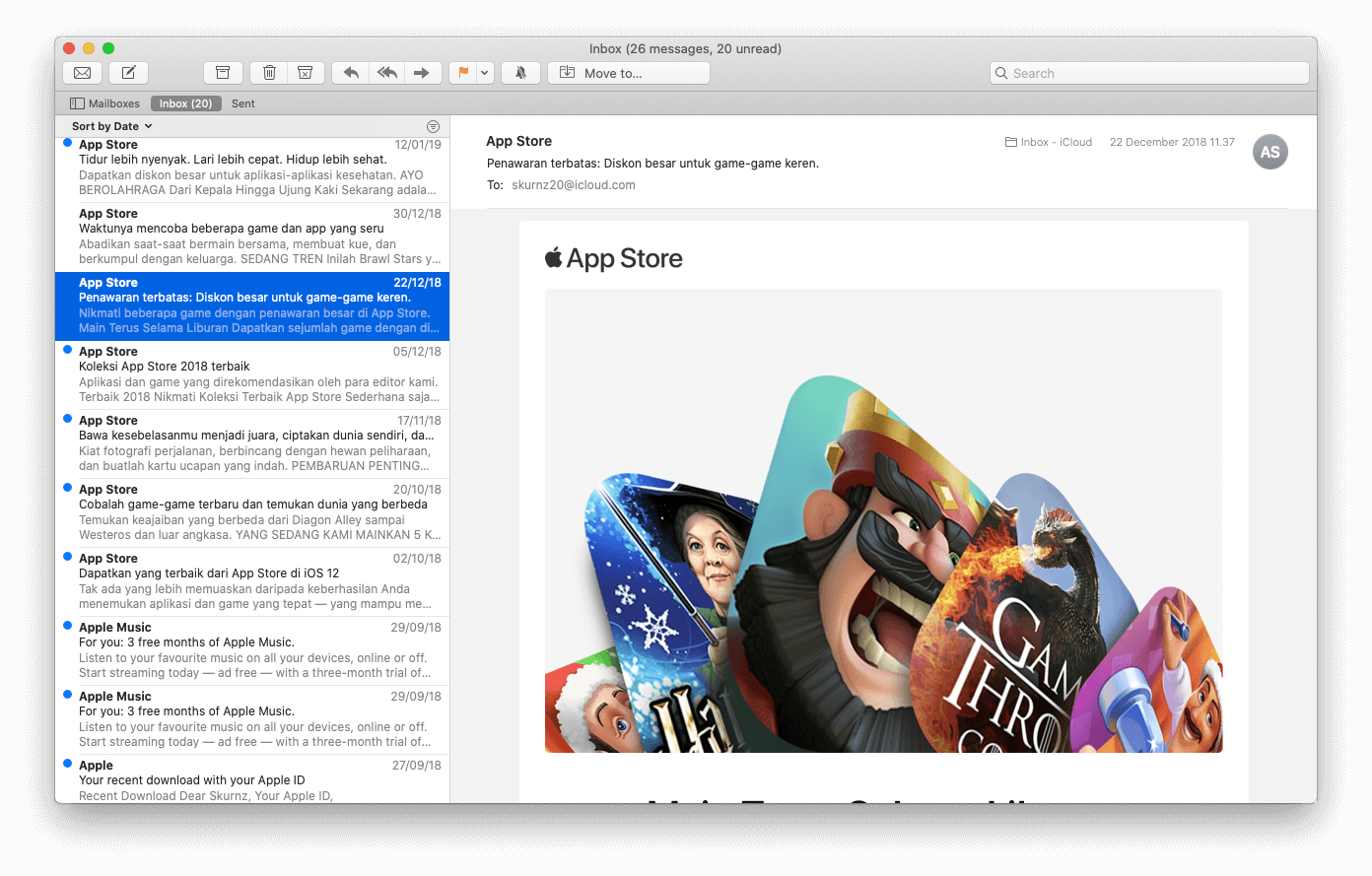 Apple Mail Email Client