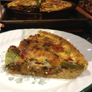 Quinoa-Crusted Chipotle Cheese & Veggie Quiche