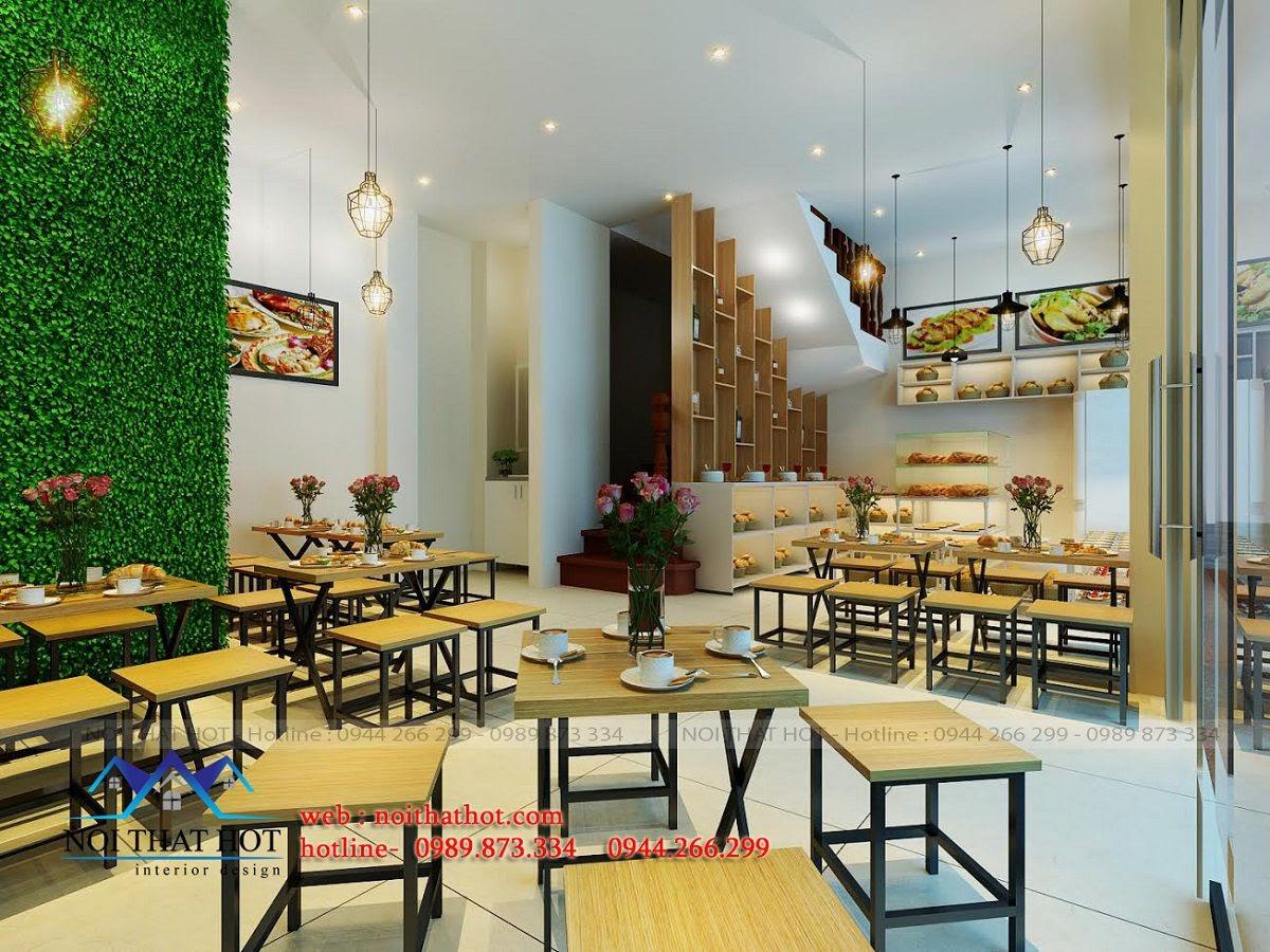 thiết kế quán ăn nhanh trẻ trung, lạ mắt