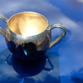 Cup of Hope by Eric Eldritch - Instagram & Mobile iPhone ( cup, clouds, reflection, sky, circle, pwc79 )