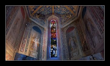 Photo: Albi, Catedral St. Cecile, Vidriera (HDR)