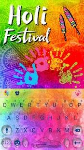 Holi Festival Keyboard Theme - náhled