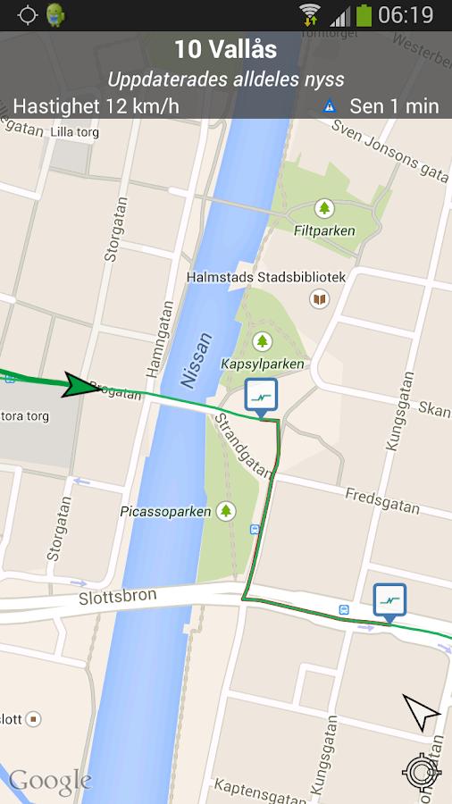 Hallandstrafiken- screenshot