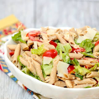 Caesar Pasta Salad with Chicken.