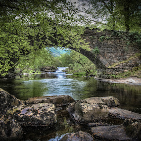 by Jim Keating - Landscapes Waterscapes ( tranquil, wales, relax, stone, bridge, bethesda, relaxing, river,  )