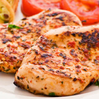 Red Pepper And Herb Grilled Chicken.