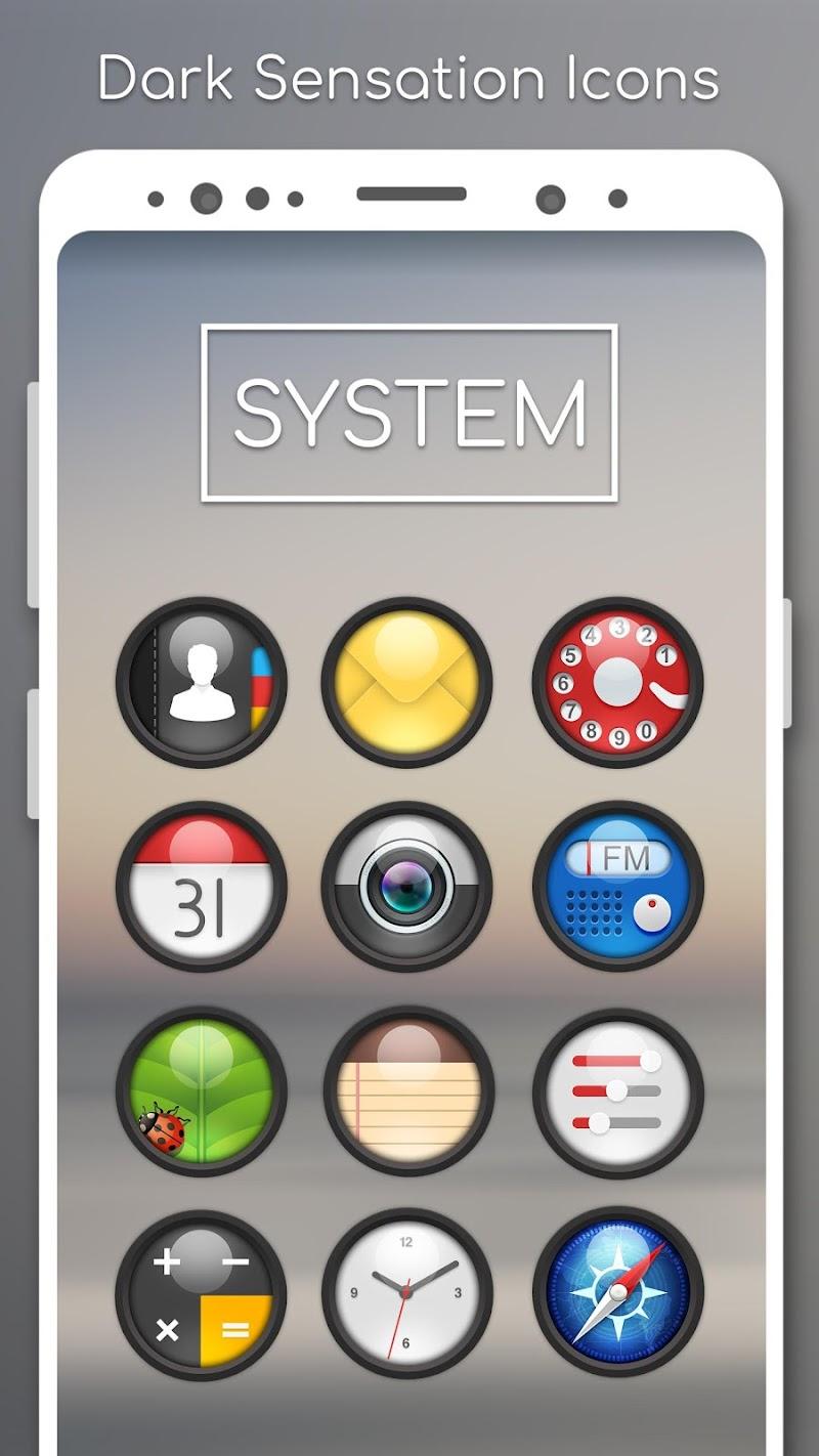 Dark Sensation -Icon Pack Screenshot 1