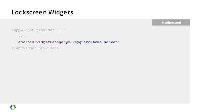 Photo: Allowing your homescreen widget to be added to the lockscreen requires only one line of XML.