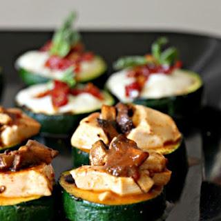Zucchini Bruschetta 2 Ways (GF, Grain-Free, Dairy Free, Vegan).