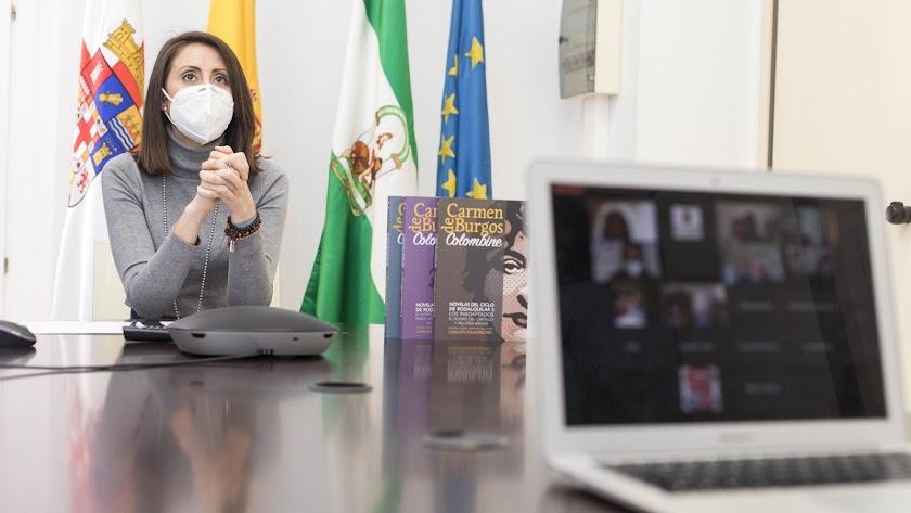 """Carmen Belén López señalaba que """"este certamen sirve para homenajear a una de las personas que más luchó por los derechos de la mujer""""."""