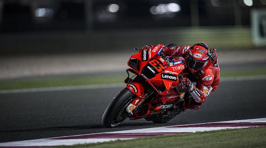 Primero Miller y  segundo Bagnaia en los libres del viernes del GP Qatar