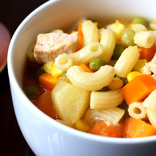 Vegetable and Chicken Pasta Soup.