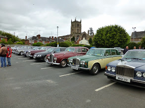 Photo: Parked up wating for the start of the Marches festival run from Leominster to Ludlow