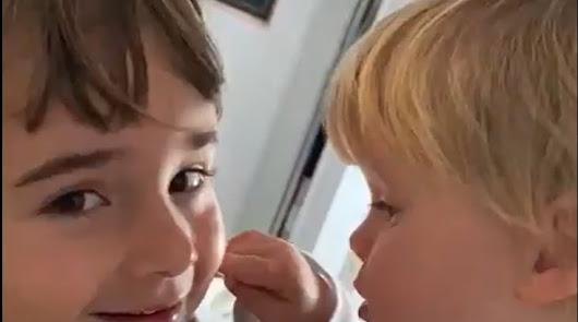 Imagen de las dos menores.