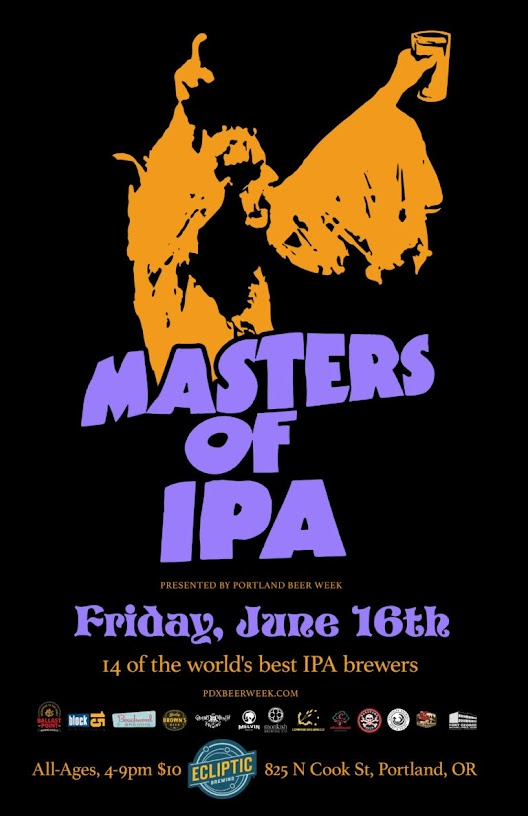 PDX Beer Week and Ecliptic Brewing present the Masters of IPA invitational