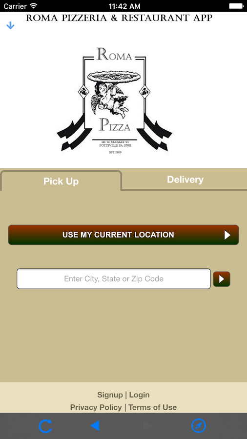Roma Pizza Pottsville App- screenshot