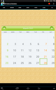 Multi Cultural Calendar screenshot 8