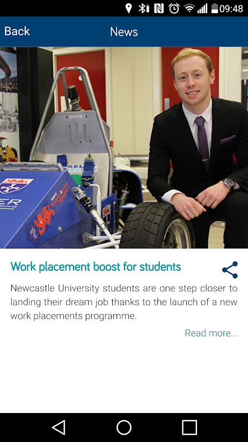 Newcastle University- screenshot