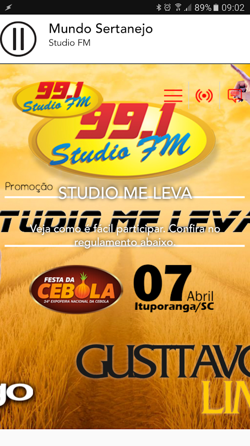 Rádio Studio FM 99.1- screenshot